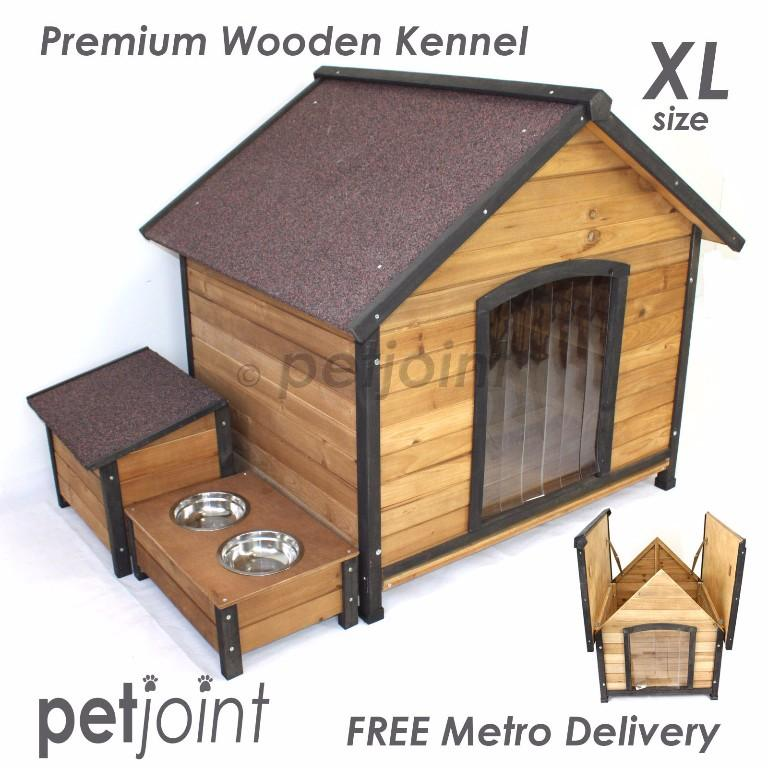Outdoor Kennel Extra X Large Big Pet Dog House Wooden Home Timbe