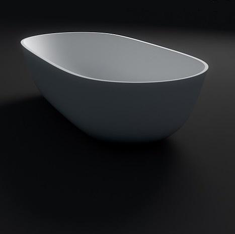 Alberta Lightweight Stone Free Standing Bath 1600 x 805 x 540