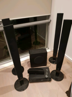 LG 5.1 Surround Sound System, Amp, Sub and DVD player with remote