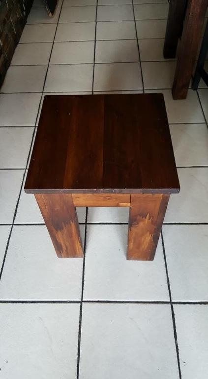 Mango wood table and stools set
