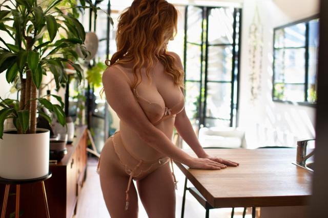 Hot natural E cup redhead, available for Skype sessions, custom videos, sexting, Only Fans.