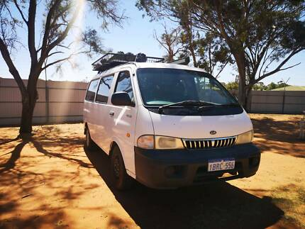 Fully equipped KIA Pregio Campervan with roof rack and aircondition